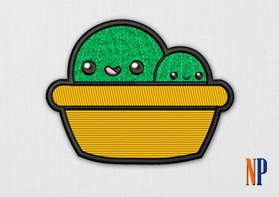 Items similar to cute cactus machine embroidery design