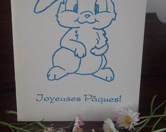Easter Bunny letterpress card