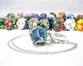 Gemini Swappable D20 Chain Mail Necklace or Key Chain - Choice of Colors - Gifts For Geeks