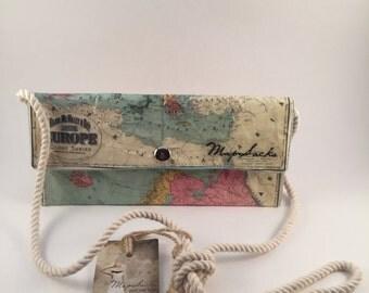 European Map Cross-body one pocket wallet
