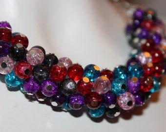 Multicolor Beaded Necklace, Multicolor Beaded Jewelry, Multicolor Necklace Pearls, Multicolor Jewelry Pearls, Necklace Pearls Multicolor