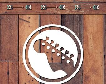 Guitar Head Decal | Yeti Decal | Yeti Sticker | Tumbler Decal | Car Decal | Vinyl Decal