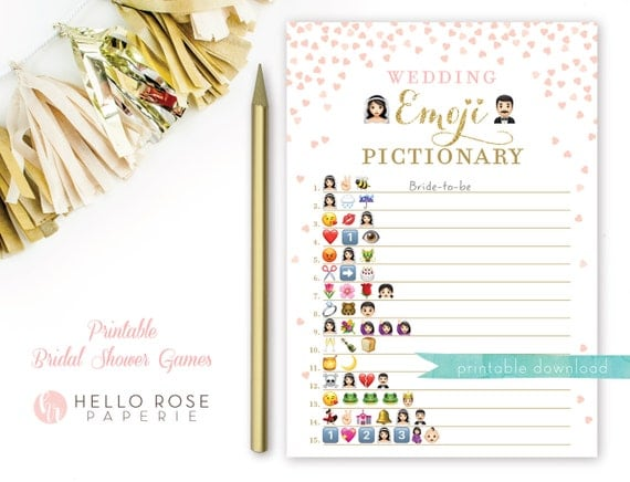 picture regarding Emoji Bridal Shower Game Free Printable named 75 BRIDAL SHOWER EMOJI Sport Free of charge, SHOWER Match Cost-free EMOJI BRIDAL