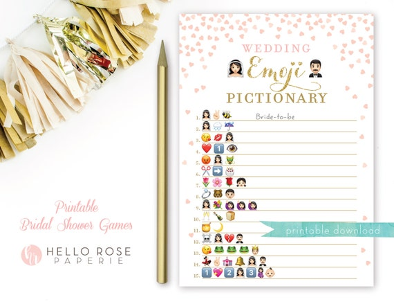 image regarding Wedding Emoji Pictionary Free Printable identify 75 BRIDAL SHOWER EMOJI Recreation Cost-free, SHOWER Recreation No cost EMOJI BRIDAL