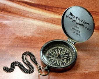 Compass, Engraved Compass, Personalized Compass, Valentines Day, Christmas Gift, Anniversary Gift, Fathers Day, Mothers Day, Groomsmen Gift.