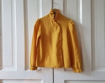 Vintage Contemporary Corner Women's Yellow Blouse Size 4