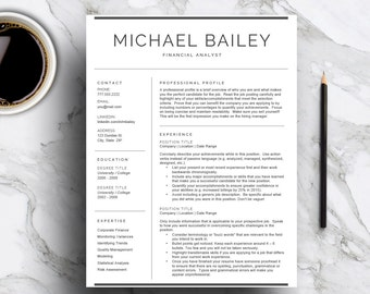 professional resume template for word pages cv template with cover letter 1 and - Mac Pages Resume Templates