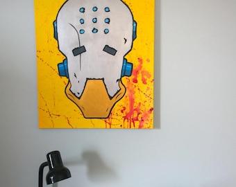 Zenyatta - Overwatch Painting - Original Acrylic Canvas - 24x30 inch