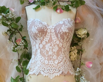 Designer Bridal Lingerie by Jenny Lee - Made to fit, Bridal Corset/Bustier/Bra