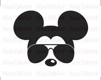 Mickey mouse svg sunglasses Disney Mickey Mouse Sunglasses svg mickey mouse ears svg mickey mouse head svg files for Cricut Silhouette
