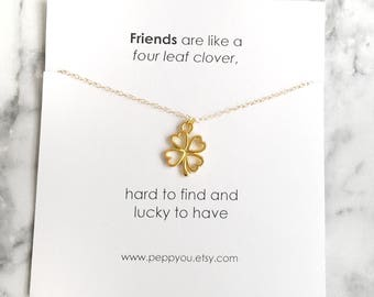 Friendship Necklace, Clover Chain Choker, Gold Fill Choker, Clover Necklace, Dainty Clover Necklace, Delicate Clover Necklace, bestie gift