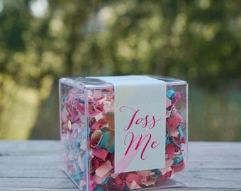 Wedding Confetti Boxes // Pink + Blue