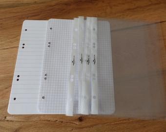 A5 ring book initial equipment paper + transparent