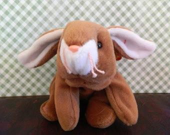 "TY Brown Bunny Rabbit Beanie Baby ""Ears"" (B)"