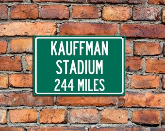 Kansas city royals etsy personalized steel highway distance sign to kauffman stadium home of the kansas city royals your text negle Choice Image