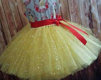 Sale!!  Belle inspired tutu dress age 5-6 yrs