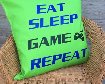 Personalised Gaming Cushion, Scatter Cushion, Teen Gift, Gaming Gift, UK