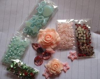 Pink Rose  Decoden / embellishment bundle