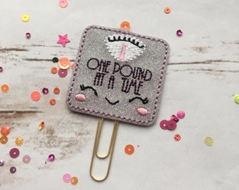 Kawaii Scales Planner Paperclip, fitness planner, planner accessories, health planner, weight loss planner, planner paper clip, stationery