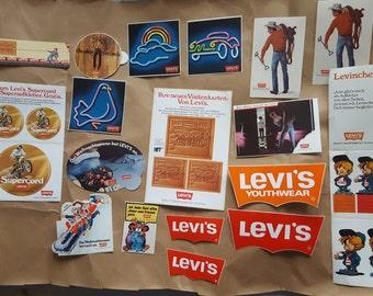 Old Levi's label / sticker logo, Levinchen, cowboy u-a -