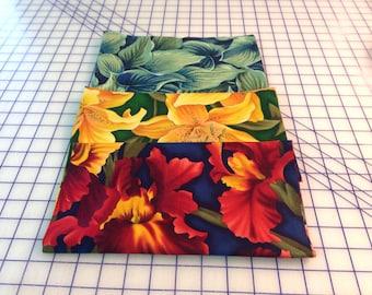 Bernatex cotton screen prints.  Large floral quilt fabric.