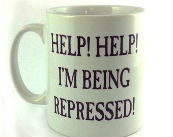 New Help! Help! I'm Being Repressed! 11oz Gift Mug Cup Present Monty Python's Flying Circus the Holy Grail Spamalot