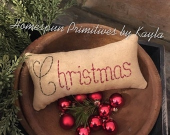 Mini Christmas Pillow Bowl Filler Ornie