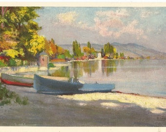 1940s Vintage Postcard, Edition Stehli of Switzerland, Automne and Lausanne, Card No.883