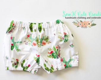 Cactus Bloomers, Cactus, Shorts, Desert, Spring, Floral, Bloomers, Green
