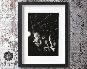 A4  Print  'Jammin'   (unframed)   // Bob Marley // Jamiaca // Rasta // Reggae //