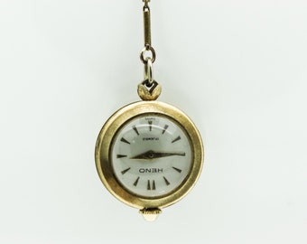 A Vintage Gold Plated Heno Pendant Watch   SKU825