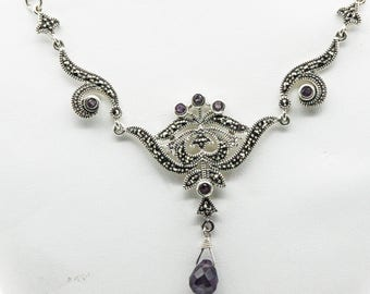 A Silver, Marcasite And Amethyst In The Art Nouveau Style   SKU 981