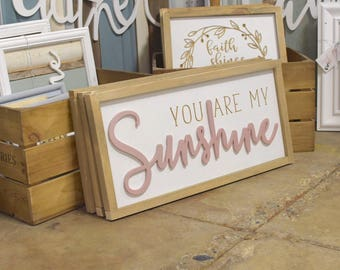 You Are My Sunshine Engraved Sign