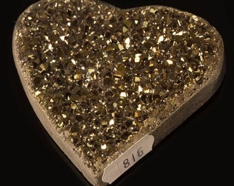 Titanium Aura Quartz Crystal Heart 3.6 oz. A-816