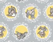 Pre-Order Disney Bambi Fabric Bambi Grey Bambi and Thumper Camelot Cotton BTY