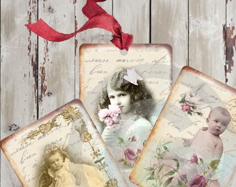 Instant download*digital sheet*old paper*scrapbooking**printable*pretty kids*
