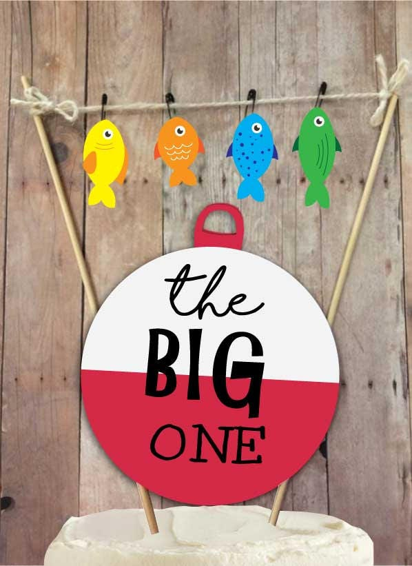 The Big One Fishing Birthday Fishing Birthday Cake Topper