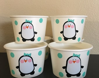 Penguin party snack cups