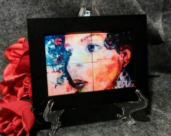 The Virtuous Woman Print - in 5 x 7 Black Wooden Frame