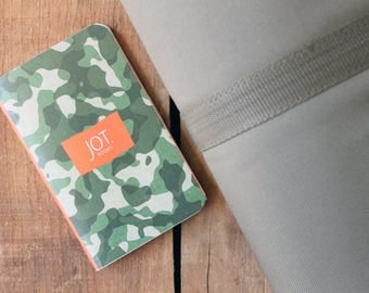 JOT. Books -- Camouflage Pocket Notebook -- (pack of 3)