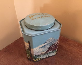 Vintage Bushells Tea Tin Canister/Bushells New Zealand Tea Tin