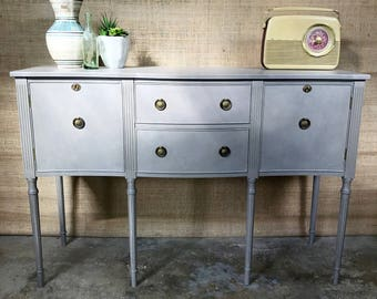 SOLD OUT** Georgian/Sharaton Era Style Sideboard/Drinks Cabinet Grey Hand-Painted