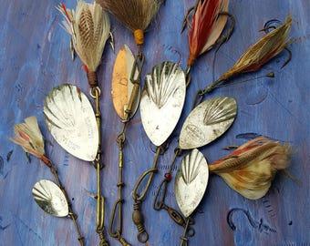 Old spinner baits fishing,fishing spinner bait collection, G.M Skinner,Pflueger,Shakespeare.