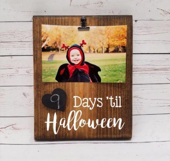 Days until Halloween Chalkboard Countdown Wood Board