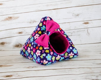 Hedgehog Bed | Guinea Pig Bed | Small Animal Bed | Hedgehog House | Guinea Pig House  | Rat Bed | Tent with Bow Custom Pick from 200 Fabrics