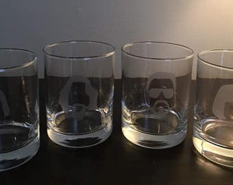 The Big Lebowski Glasses - Lebowski Double Rocks Glasses - The Dude - Walter - Donny- Maude -White Russian