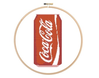 Coca cola cross stitch