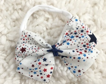 Patriotic bow | Stars| hair clip | headband