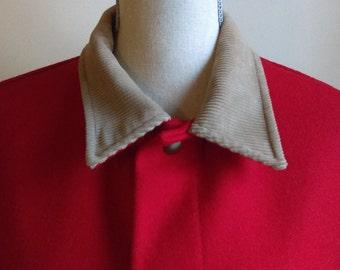 Vintage Red Wool Pendleton Outdoorsman Men's Coat.
