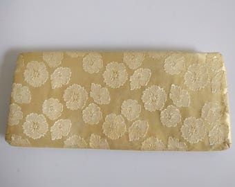 Vintage Yellow Brocade Clutch.
